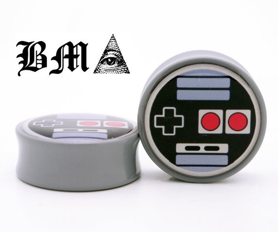 Oldskool Video Game Controller BMA Plugs 0g (8mm)