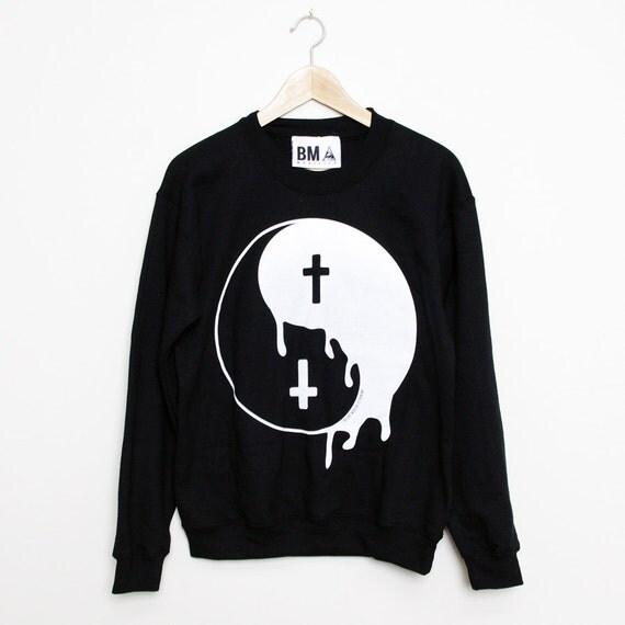 Crew Sweater // Melting Yin Yang XL