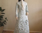 Custom Made Victorian Natural Form Day Dress with Hat