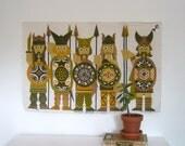 Mid Century Modern Viking Tapestry