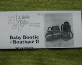 Work Boot Baby Bootie Crochet pattern
