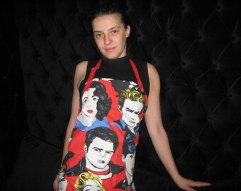 Apron HOLLYWOOD STARS Vintage Style Novelty Accessory, under 50 usd
