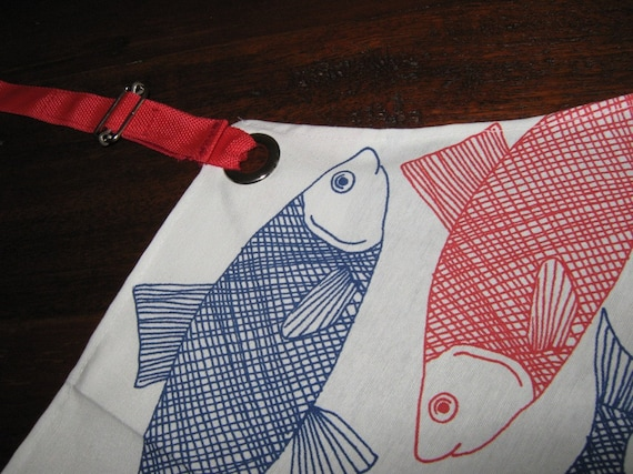 Apron, FISH and STRIPES, under 50 usd