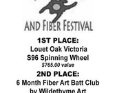 FIVE Collectible tickets with free chances to win a brand new, Oak Louet Victoria S96 Spinning Wheel
