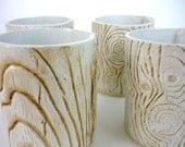 SALE Faux Bois et de la Flamme - Set of 4 ceramic tealight holders