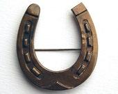 Vintage Horseshoe Brooch