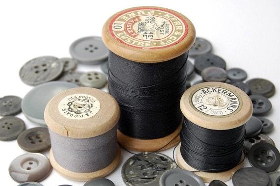 Vintage wooden Cotton Reels