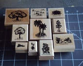 Luscious Landscapes 10pc. Stampin' Up Rubber Stamp Set