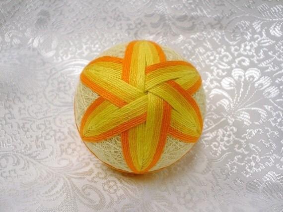 Japanese Temari Christmas Ornament
