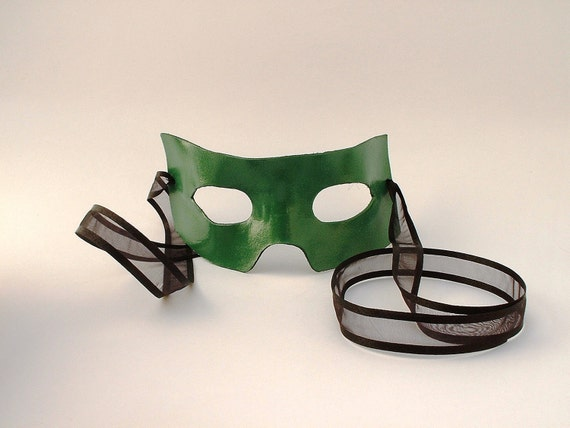 Leather Superhero Mask available in multiple colors