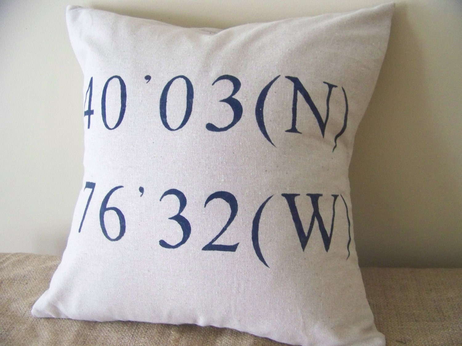 Personalised Wedding Gift Coordinates : coordinates pillow cover personalized gift by JenniferHeleneHome
