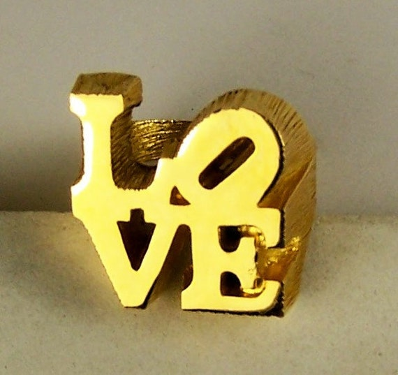 Fabulous Vintage Highly Collectible Pop Art  LOVE  Ring by Designer ROBERT  INDIANA