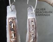 Beach Bark with Silver Earrings