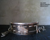 Beach Bark with Silver Bracelet