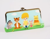 Long siamese - Winnie the pooh - double metal frame purse