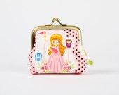 Deep mum - Disney princess - Sleeping beauty- metal frame purse