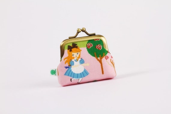 Deep baby - Alice and cards - metal frame purse