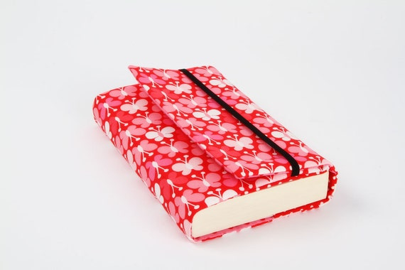 Adjustable Book Cover Tutorial : Adjustable paperback book cover pink butterflies