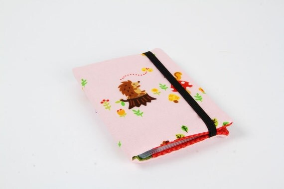 CIJ sale -Card holder - Hedgehogs and friends