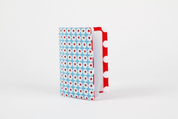 Card holder - Daisy dots in blue