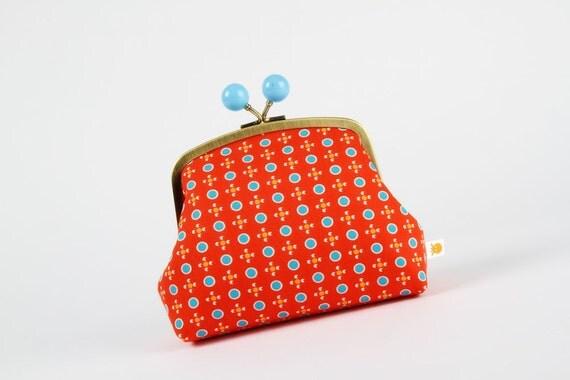 Color bobble pouch - Petit Pan Tsukiko rouge - metal frame pouch