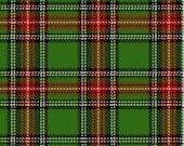 Paper Doll Christmas Classic Tartan PLAID Green Red by Windham Fabrics  - 1 yard
