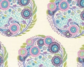 Parisville TOPIARY Circles Mist Lavender by Tula Pink for Free Spirit Fabrics - 14 inches by 44 inches