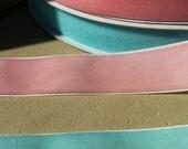 Light Baby Blue Velvet Ribbon 7/8 inch width - 3 yards