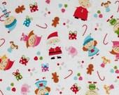 Santas Workshop Main White Doodlebug Design Christmas Cotton Riley Blake Fabrics  - 1 Yard