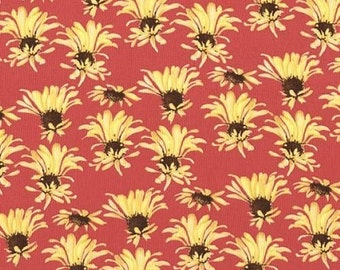 SALE Tina Givens Georgina MADISON Raspberry Daisies for Free Spirit Fabrics - 1 Yard