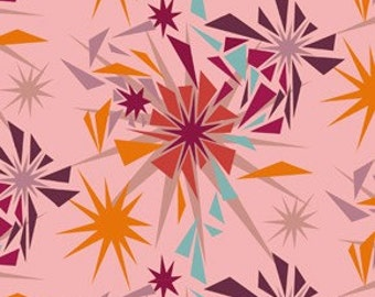 Innocent Crush SHATTERED Punch Pink by Anna Maria Horner for Free Spirit Fabrics - 1 yard