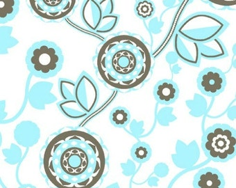 Dazzle Vine in Teal Blue by Melissa Averinos for Andover Fabrics - 1 yard