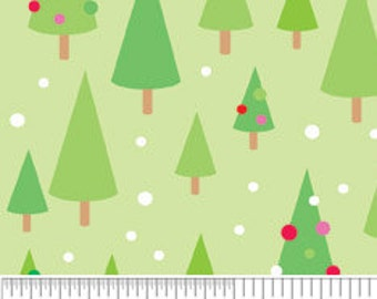 Christmas Candy TREES Green Cotton Riley Blake Fabrics  - 1 Yard