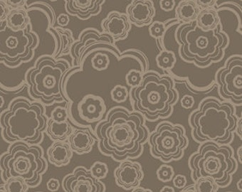 Dazzle Tonal Flowers Floral Grey Gray Taupe by Melissa Averinos for Andover Fabrics - 1 yard