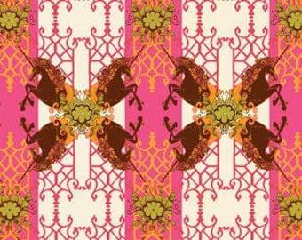 Pernilla's Journey Unicorns Watermelon Pink by Tina Givens for FreeSpirit Cotton Fabric - 1 yard