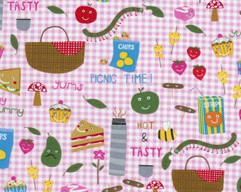 Pink Picnic Goodies Summer Fun Kidz Timeless Treasures - 1 yard