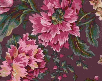 SALE Le Rouvray LARGE FLORAL Taupe Encore Collection Free Spirit Fabrics 1 yard