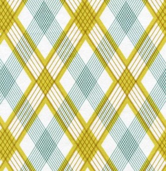 Modern Meadow PICNIC PLAID Sunglow Grass Pond Fabric by Joel Dewberry - 1 yard