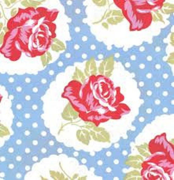 Delilah Lulu in Blue TW41 by Tanya Whelan for Free Spirit Fabrics - 1 yard