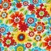 Bright Owl Cream Tossed Flowers by Alice Kennedy by Timeless Treasures - 1 yard