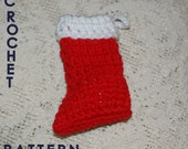 CROCHET PATTERN -  Stocking Christmas Ornament ---Use As Ornament, Cutlery Holder, or  Package Decoration