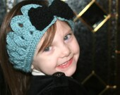 Crochet Pattern - THE ROSIE Crocodile Stitch Head Band/Ear Warmer ---  2 Sizes Todler/ Child and Pre teen/ Adult