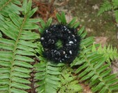 Fluffy Scrunchie (Color--Black Mix)