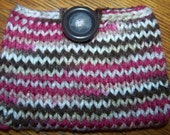Multi-Colored Knitted Cell Phone Pouch