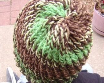 Woodsy Spiral Stripe Toboggan - OOAK MWL from an EtsyMom