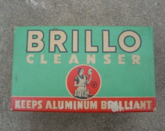 Brillo Cleanser Vintage 1950's  - Economy Size - 5 Soap Pads NIB - NY U.S.A. offered by an EtsyMom
