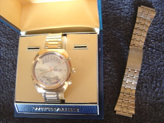 1974 Perpetual Calendar Gold Watch - Wittnauer 2002 Day-Date Automatic