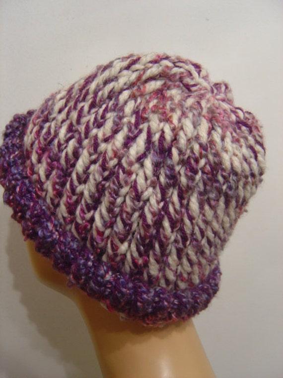 Toboggan Hat Berries Cream Cozy Comfort Heavy Duty - OOAK from an EtsyMom
