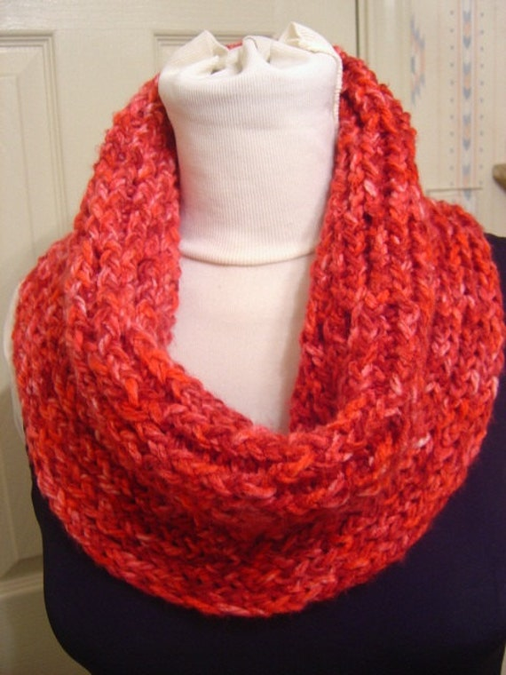 Raspberry Red Circle Scarf Cowl Shrug Tube Top Sweater - OOAK from an EtsyMom