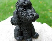 Black Poodle - Polymer Clay Puppy